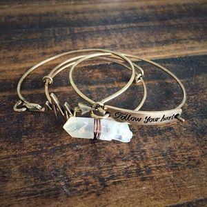 Boho bracelet stack of 3